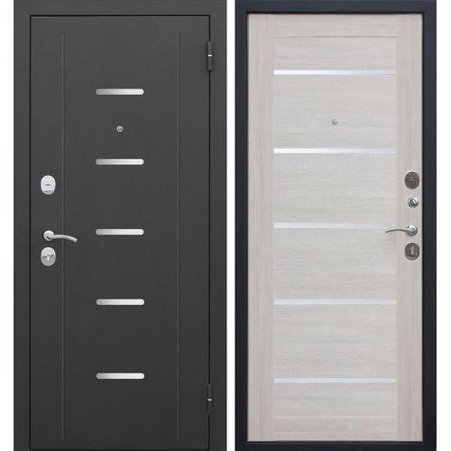 Дверь мет. 7,5 см Гарда муар  Лиственница беж Царга 960 правая