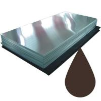 Гладкий лист 8017 Шоколад (2,5 х 1.25 х 0.5)