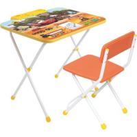 """Комплект """"Disney 2"""" Тачки (стол складной с пеналом, выс.570мм,стул складной,мягкий) Д2Т """"НИКА"""""""