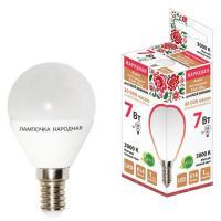 Лампа светодиодная FG45-7 Вт-230 В-3000 КE14 Народная (SQ0340-0185)