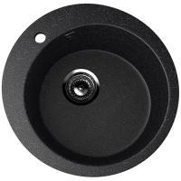 Мойка Ulgran U-405-308 (диам. 495мм) черная с сифоном