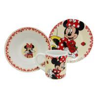 """Набор Disney """"МИННИ"""" 3 пр.: кружка 240 мл, миска 18 см, тарелка 19 см в под. уп., арт. DMS3-1"""