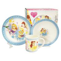 """Набор Disney """"ПРИНЦЕССЫ"""" 3 пр.: кружка 240 мл, миска 18 см, тарелка 19 см в под. уп.  арт.DPS3-1"""