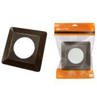 Одноместная защитная рамка для выключателей или розеток для защиты обоев 130х130 мм, шоколад TDM (SQ