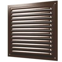 Решетка вентиляционная вытяжная стальная с покрытием полимерной эмалью,с сеткой  250х250 (2525МЭкор)