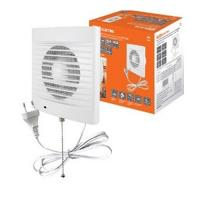 Вентилятор бытовой настенный 100 СВп, с выключателем и проводом 1,3 м, TDM (SQ1807-0013)
